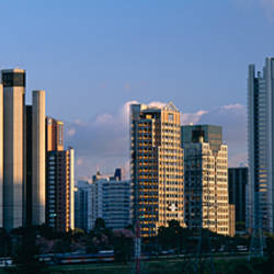 Skyscrapers in a city, Citibank, Itaim Bibi, Sao Paulo, Brazil