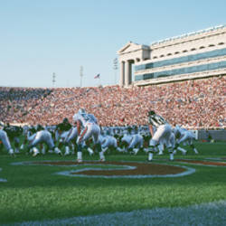 Football Game, Soldier Field, Chicago, Illinois, USA