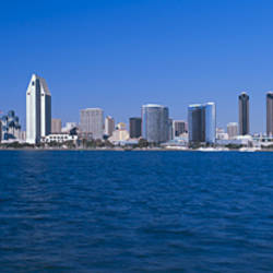 Skyscrapers in a city, San Diego, California, USA