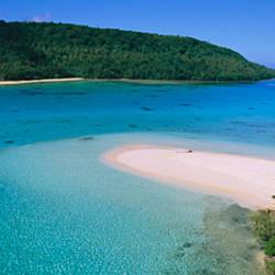 Aerial view of the beach, Tonga