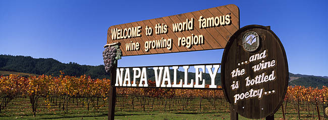 Welcome Sign Napa Valley CA