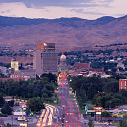 Aerial view of a city, Boise, Idaho, USA