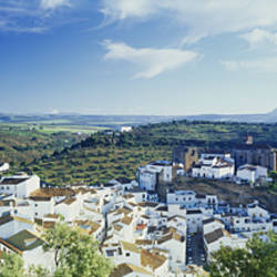 High angle view of buildings in a town, Pueblo Blanco, Andalusia, Spain