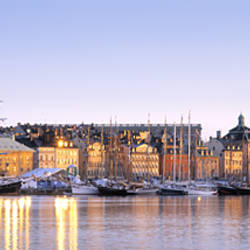 Buildings on the waterfront, Old Town, Stockholm, Sweden