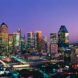 Night, Dallas, Texas, USA