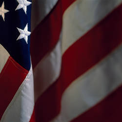 Close-up of an American flag, USA