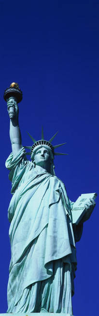 Low angle view of a statue, Statue Of Liberty, Liberty Island, New York City, New York State, USA