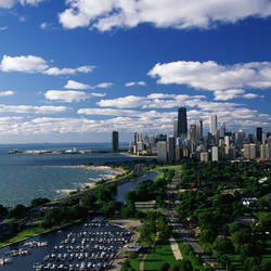 Lincoln Park and Diversey Harbor Chicago IL