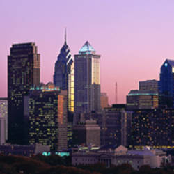 Skyscrapers in a city, Philadelphia, Pennsylvania, USA