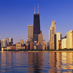 Skyscrapers at the waterfront, Chicago, Illinois, USA