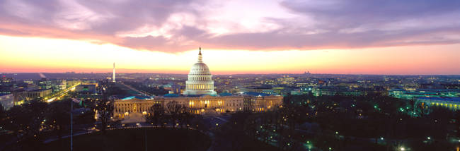 Twilight, Capitol Building, Washington DC, District Of Columbia, USA