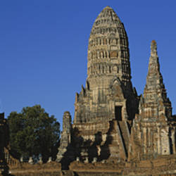 Low Angle View Of Buildings Of A Temple, Wat Chaiwatthanaram, Ayuthaya, Thailand