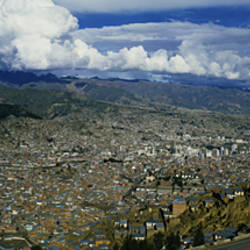 Aerial view of a city, La Paz, Bolivia