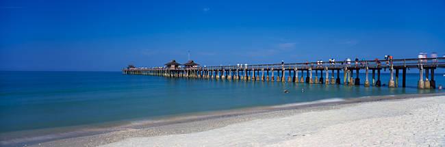 Pier over the sea, Naples Pier, Gulf of Mexico, Florida, USA