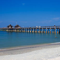 Pier over the sea, Naples Pier, Gulf of Mexico, Florida, USA