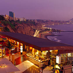 High angle view of a restaurant, Miraflores District, Lima Province, Peru