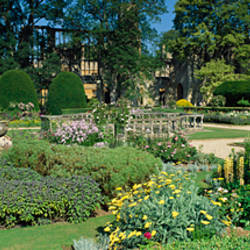 Garden in front of a castle, Sudeley Castle, Gloucestershire, England