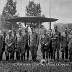 Officers of the Mobilization Camp at Syracuse New York Fair Grounds Syracuse New York June 1917