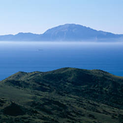 View of Morocco across the Straits Of Gibraltar, near Tarifa, Cadiz Province, Andalusia, Spain