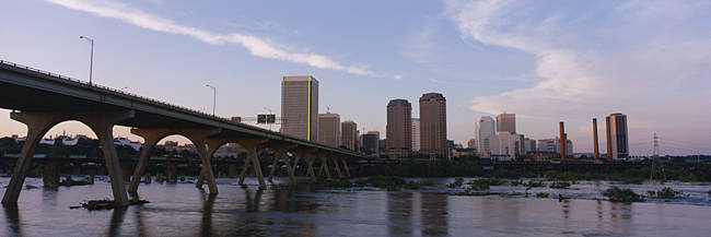 Low angle view of a bridge over a river, Richmond, Virginia, USA
