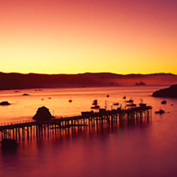 Sunrise on Trinidad Bay, Trinidad, Humboldt County, California, USA