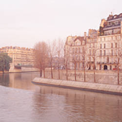 Buildings Near Seine River, Notre Dame, Paris, France