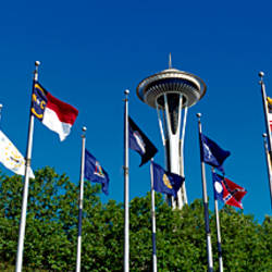 Space Needle Flag Pavilion Seattle Center Seattle WA USA