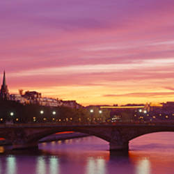 Bridge with the Eiffel Tower in the background, Pont Alexandre III, Seine River, Paris, Ile-de-France, France