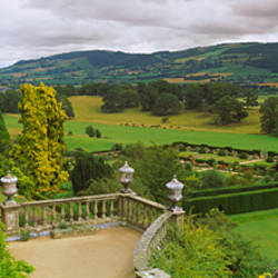 Landscape viewed from a castle, Powis Castle, Wales
