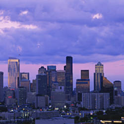 Skyscrapers in a city, Seattle, Washington State, USA