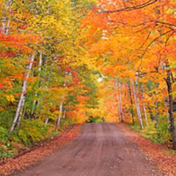 USA, Michigan, Copper Harbor, road