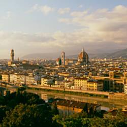 The Duomo & Arno River Florence Italy