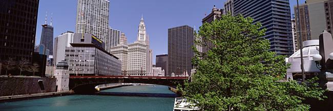 Wabash Ave Bridge over Chicago River Chicago IL USA