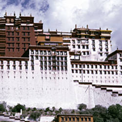 Low angle view of a palace, Potala Palace, Lhasa, Tibet
