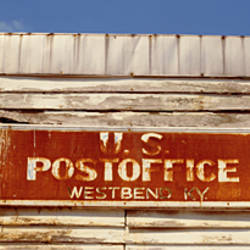 High section view of a post office, West Bend, Kentucky, USA
