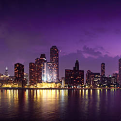 Buildings at the waterfront, Hancock Building, Lake Michigan, Chicago, Cook County, Illinois, USA