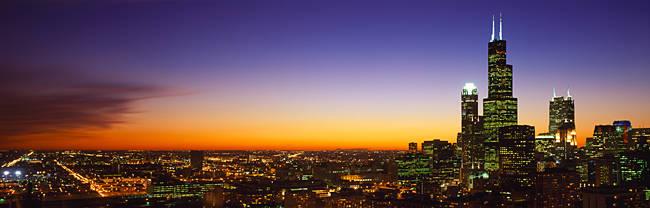 Night Chicago IL USA