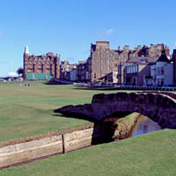 Footbridge in a golf course, The Royal and Ancient Golf Club of St Andrews, St. Andrews, Fife, Scotland