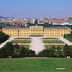 Formal garden in front of a palace, Schonbrunn Palace, Vienna, Austria