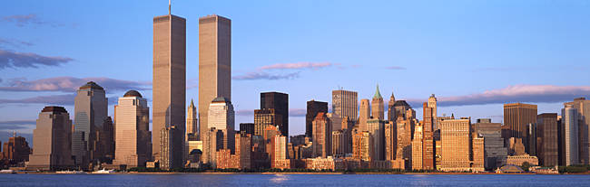 Skyscrapers in a city, World Trade Center, Manhattan, New York City, New York State, USA