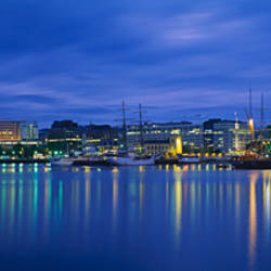 Buildings at the waterfront, City Hall, Oslo, Norway