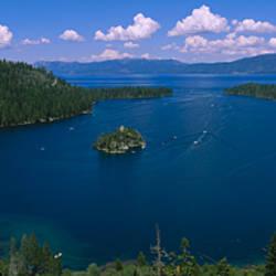 High angle view of a lake, Lake Tahoe, California, USA