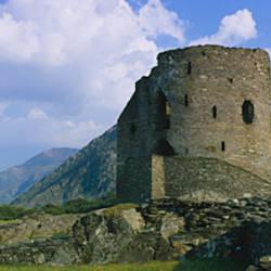 Old ruin of a castle, Dolbadarn Castle, Llanberis, Gwynedd, Wales