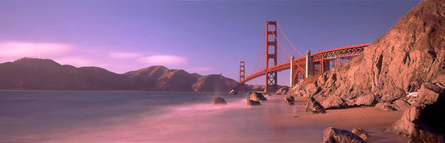 Bridge across a sea, Golden Gate Bridge, San Francisco, California, USA