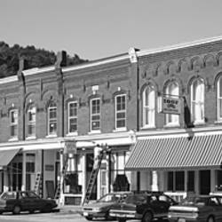Cars parked in front of buildings, South Royalton, Vermont, USA