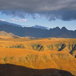 Clouds over a canyon, Royal Natal National Park, Drakensberg, South Africa