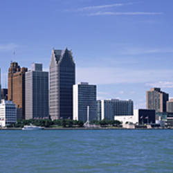 Buildings at the waterfront, Detroit, Wayne County, Michigan, USA