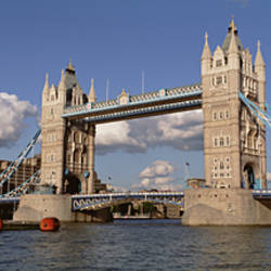 Bridge Over A River, Tower Bridge, Thames River, London, England, United Kingdom