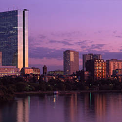 City skyline at the riverfront, Charles River, Boston, Suffolk County, Massachusetts, USA