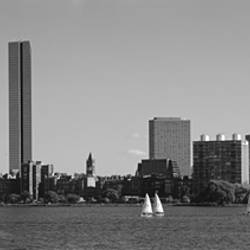 MIT Sailboats, Charles River, Boston, Massachusetts, USA